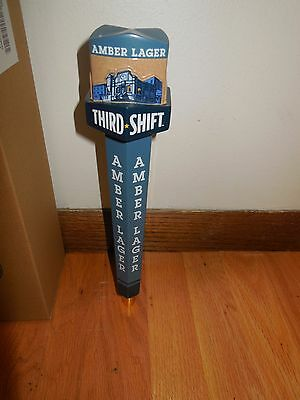 (L@@k) Third Shift Amber Lager Beer 12 Inch Tap Handle Man Cave Game Room New