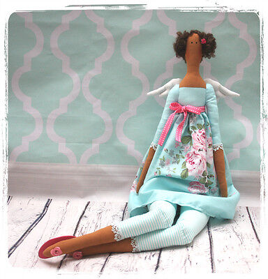 Handmade Tilda style Doll - Angel in blue , Decoration, Present, Gift