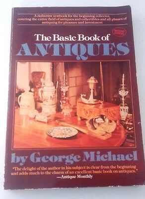 George Michael - SIGNED- The BASIC BOOK OF ANTIQUES- 2nd edition, 1982