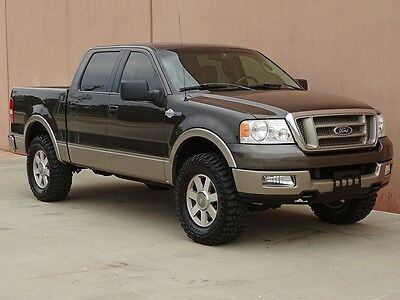 2005 Ford F-150 King Ranch Crew Cab Pickup 4-Door 2005 FORD F150 KING RANCH CREW CAB 4X4 ACCIDENT FREE TX TRUCK CARFAX CERTIFIED!!
