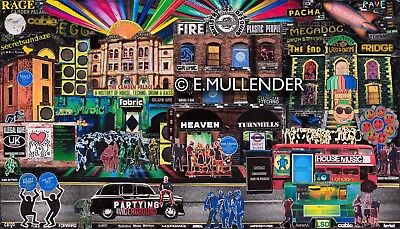 """RAVE ART : """"London's Nightclubs from Past To Present"""" Limited Edition Prints."""