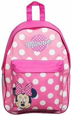 Disney Minnie Mouse Pink Polka Dot Backpack with Pocket