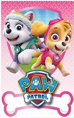 Paw Patrol Girls Skye & Everest Fleece Blanket Throw Children Kids