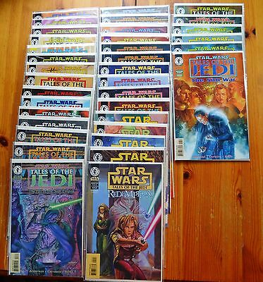 STAR WARS Tales of The Jedi Comic Book Lot of 35 Total Issues (7 Complete LS) NM