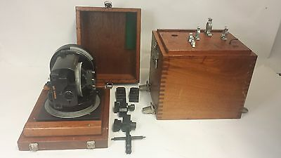 SYSTEM 3R EDM Machinist Tool Fixture on slide base with Mahogany wooden Box Case