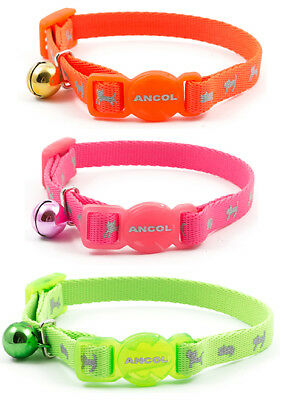 Ancol Hi Vis Safety Quick Release Kitten Collars