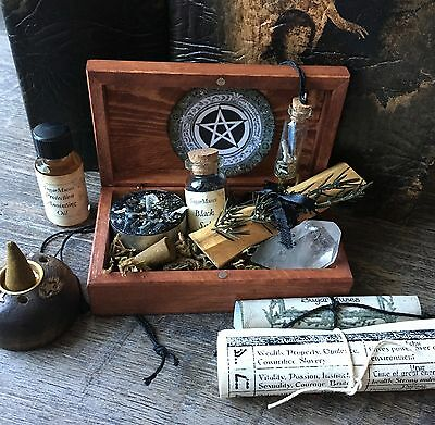 Wiccan Altar Box Spell Kit Pagan Metaphysical Wicca Decor Handmade