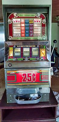 Bally Vintage Slot Machine!  Works Perfectly!  Lights Up! Comes With Key!