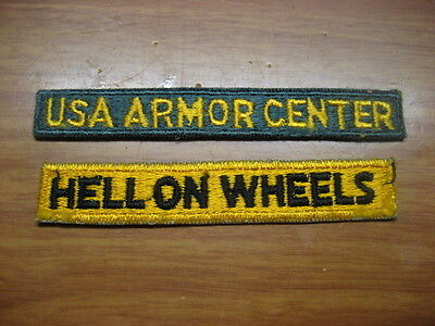 US Army Patch Armored Tabs lot of 2