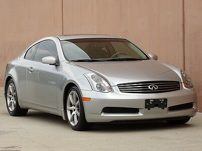 2004 Infiniti G35 COUPE 2004 INFINITI G35 COUPE 2 OWNER CARFAX CERTIFIED XTRA CLEAN!! LOW MILEAGE!!