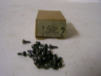 "#2 x 1/4"" Round Head Blued Wood Screws Slotted Vintage Made in USA Qty 125"