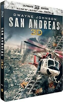 Blu-ray - San Andreas [édition steelbook Blu-ray 3D, Blu-ray, DVD]