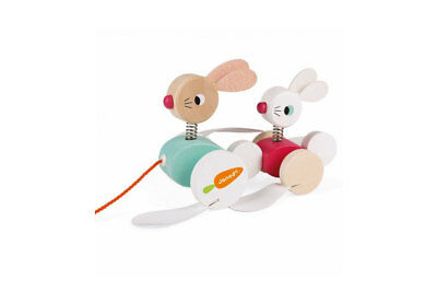 Pull Along Wooden Rabbits by Janod