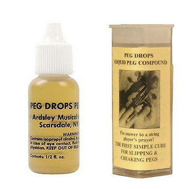 New Ardsley violin viola cello peg drops compound 1/2oz bottle instructions inc