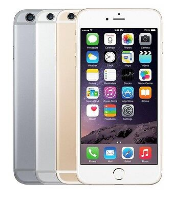 "Apple iPhone 6-16GB 64GB 128GB GSM""Factory Unlocked""Smartphone Gold Gray Silver"