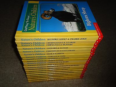 Lot 20 Getting to Know Nature's Children 2-in-1 HC Books 40 Titles Scholastic
