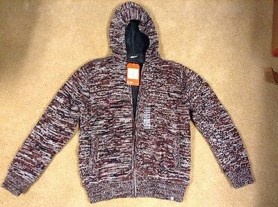 The North Face Men's MEDIUM Sequoia Red Twisted Ridge Fleece New with tags
