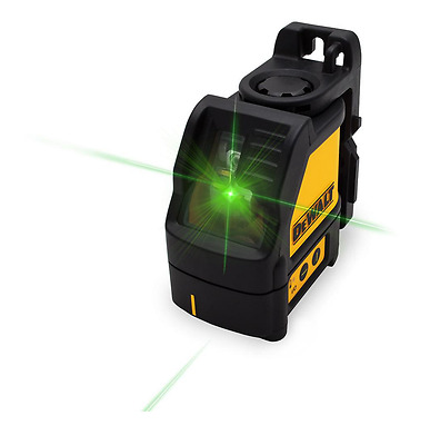 DEWALT Cross Line Green Laser Level Measure Layout Tool