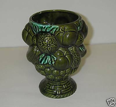 Made in Japan ART POTTERY Rubens Orginals FESTIVE ORCHARD 2171 Vase Green