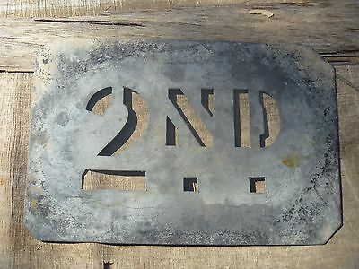 Vintage Wool Bale Stencil - shed find - industrial decor hand cut