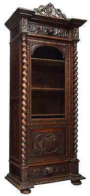 CARVED FRENCH RENAISSANCE REVIVAL BOOKCASE, 19th Century ( 1800s )