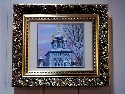 Oil Painting of Russian Orthodox Church