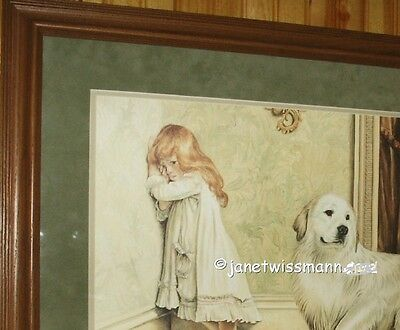 Large FINE ART PAINTING PRINT LtdEd, Signed Great Pyrenees Pyrenean Mountain Dog