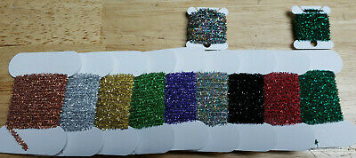 Crystal Chenille, 3 Meter bag, Various Colors and Sizes