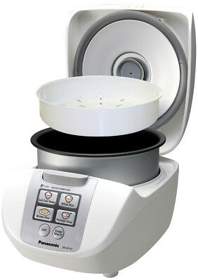 Panasonic SRDF101WST Electronic Rice Cooker 5 Cup Rice Uncooked