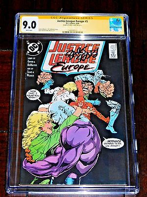 Justice League Europe #5 CGC 9.0 SS Bart Sears 1989 POWER GIRL the Flash