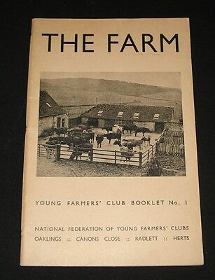VINTAGE 1942 YOUNG FARMERS CLUB BOOKLET # 1 ~ The Farm