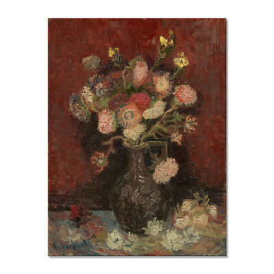 Canvas Print Home Decor Wall Art Van Gogh Painting Repro Picture Flowers Vintage