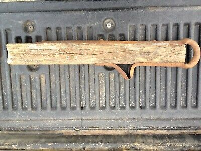 Antique Wagon Tongue Metal Hand Forged Very Old Hay Cart Hitch