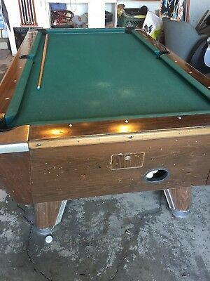 AMF PLAY MASTER Foot Solid Oak Leather Pocket Pool Table - Amf pool table models