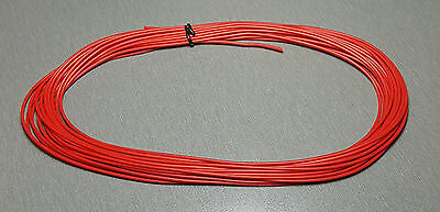 10 Metres Red UL-1007 Hookup Wire 22AWG 1.6mm PVC insulator