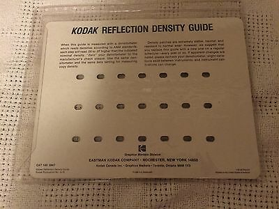 Vintage Kodak Reflection Density Guide Q-16 Cat. 146 5947 NOS
