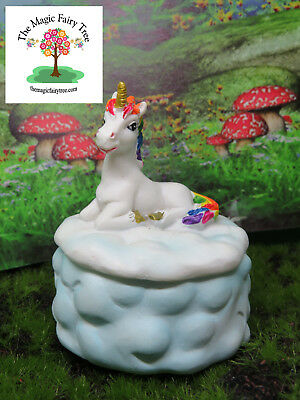 7cm rainbow unicorn pin box jewellery trinket box decor bedroom tooth fairy