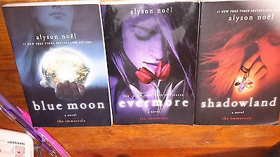 Lot of 3 Paperback Books from the Immortals Series by Alyson Noel EXCELLENT COND