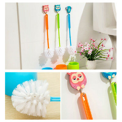 Bathroom Toilet Scrub Cleaning Brush Tool With Holder Plastic Bathroom Colorful