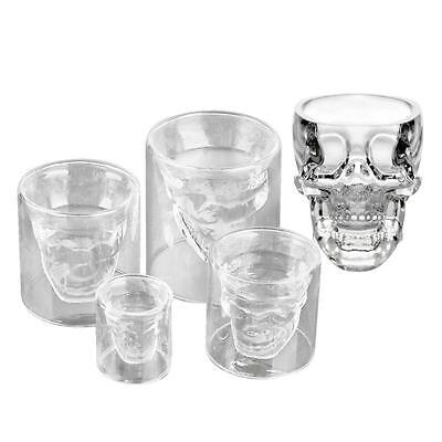 Crystal Glass Vodka Whiskey Skull Head Shot Cup Drinking Ware Home Bar Beer EZ