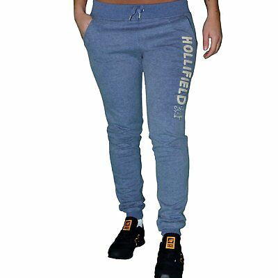 Hollifield - Jogging Pants Slim Fit - Woman - Hfp03 - Gray Blue New