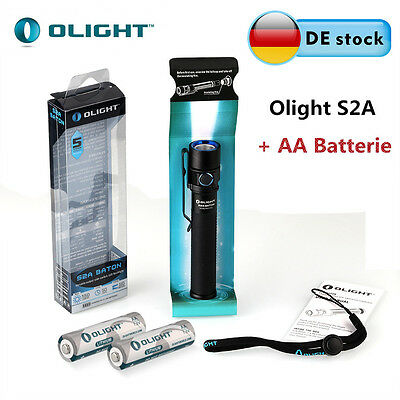 olight s2a baton aa taschenlampe edc cree led 550 lm mit 2. Black Bedroom Furniture Sets. Home Design Ideas