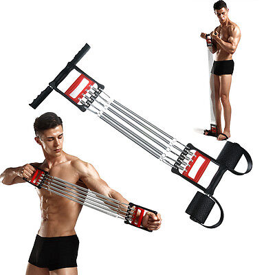 Detachable 5 Spring Body Chest Pull Expander Fitness Puller Strength Exercise UK