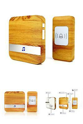 Four Horse Wood Grain Wireless Doorbell With 1 Receiver Plugin And 1 Remote Butt