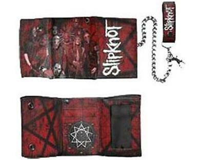 Official Licensed - Slipknot - Scratched Group Chain Wallet - Metal Corey Import