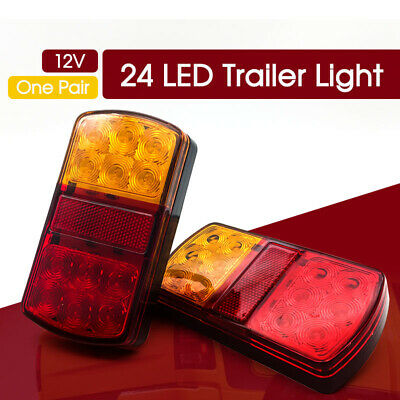 12V LED Rear Stop Brake Lights Waterproof Trailer Caravan BAR POST SUMERGABLE