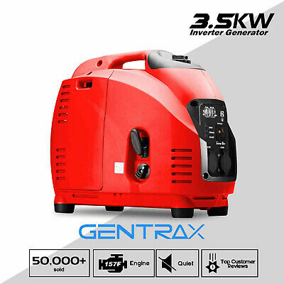New Gentrax Portable Inverter Generator 3500W Max Remote Start Petrol Camping