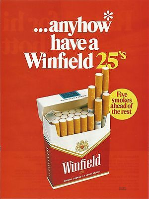 Vintage WINFIELD Cigarettes Advertisement