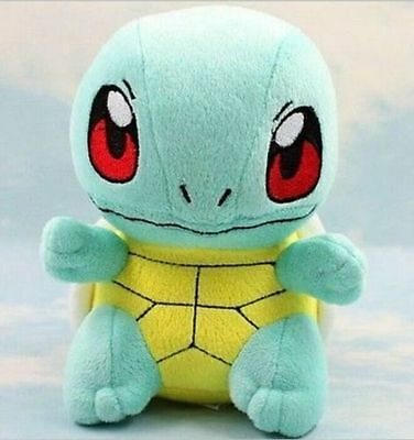 """NEW Official Center Original Pokemon Squirtle 7"""" Plush Doll Toy"""