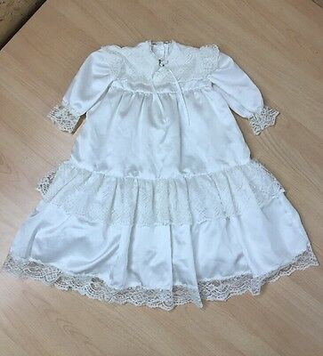 Vintage Style Christening Dress Gown 6-12 months Flower Girl Bridesmaid Ivory